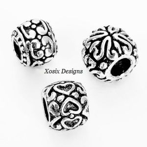 European Spacer Bali Deco Charm Bead Pendant Set